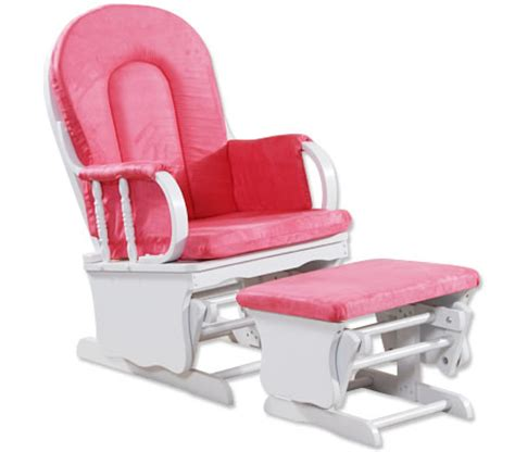 pink and white glider and ottoman wooden glider chair couch with ottoman white pink
