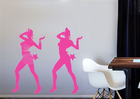 cool wall stickers uk cool fashion silhouette modern wall stickers adhesive wall