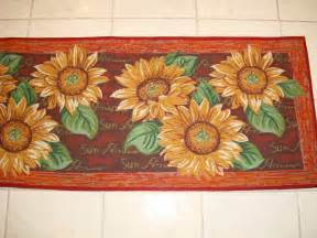 Sunflower Kitchen Rugs Tapestry Kitchen Accent Rug Runner 24x60 Sunflowers Summer Large Rug Ebay