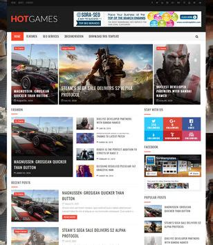 templates blogger for games game blogger templates 2018 free download