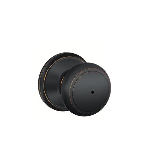 shop schlage f andover aged bronze push button lock