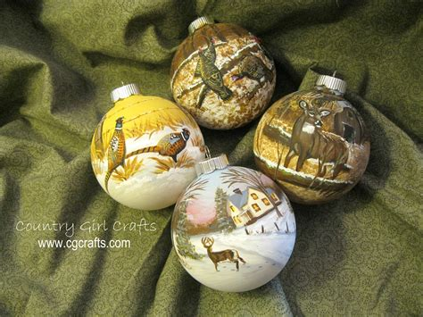 country girl crafts hand painted glass christmas ornaments