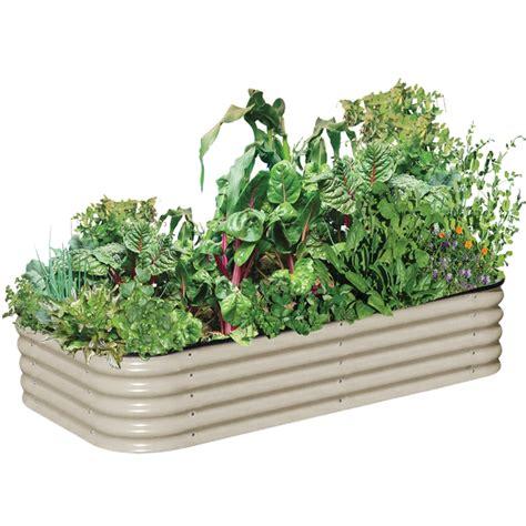 Birdies 2200 X 1300 X 400mm Paperbark 6 In 1 Raised Garden Bed Raised Vegetable Garden Beds Bunnings