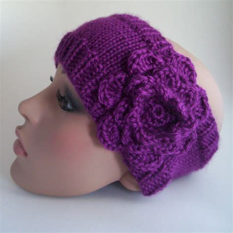 knitting pattern for headbands with flower knitting patterns galore the whitney headband