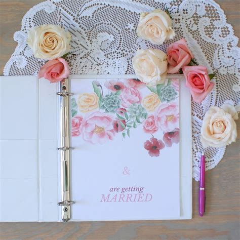 wedding planner book layout wedding planner printable with floral design wedding