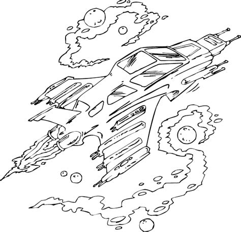 Speeding Spaceship Coloring Page Coloring Com Space Ship Coloring Pages