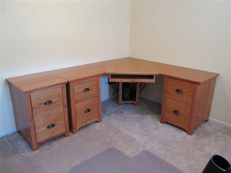 Cherry Corner Desk And File Cabinets By John Corner Desk With Filing Cabinet