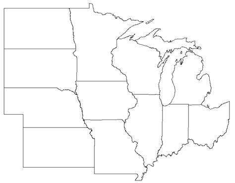 printable us map by regions blank midwest map my blog