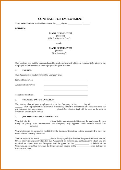 position agreement template inspirational pictures of employment agreement sle