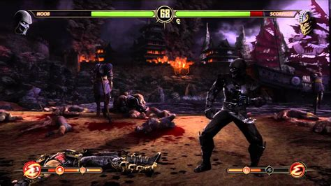 mortal kombat scorpion vs noob saibot youtube mortal kombat noob vs scorpion with fatality youtube