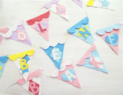 Handmade Bunting - handmade personalised felt bunting by altered chic