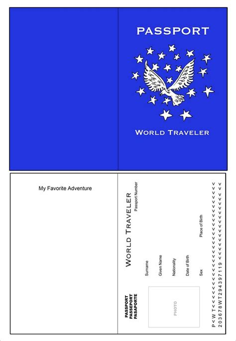 Passport Templates Word Excel Sles Editable Passport Template