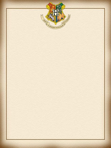 letter from hogwarts template hogwarts letter template business letter template