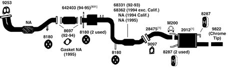 2006 hyundai elantra exhaust system hyundai elantra exhaust diagram from best value auto parts