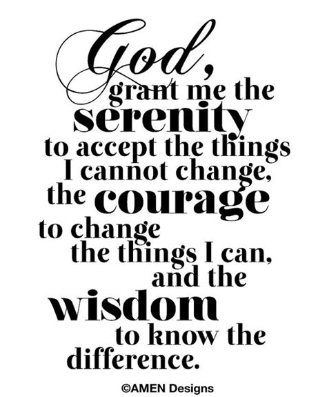 printable version of the serenity prayer printable typography serenity prayer 8x10 diy pdf