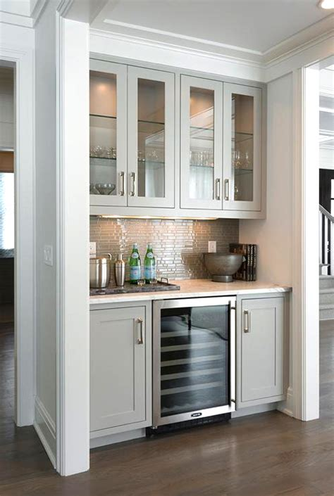 Built In Home Bar Ideas Gray Bar Nook Built In Creative Built In Design