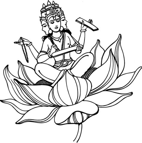 coloring pages of indian gods hindu gods colouring clipart best