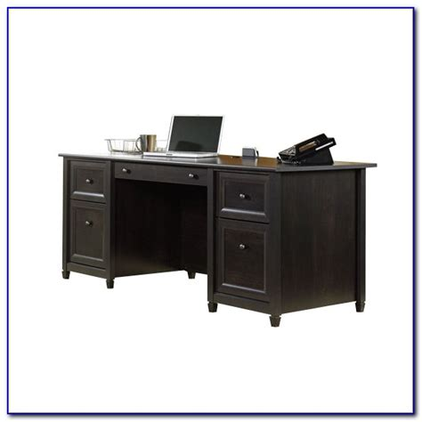 sauder edge water executive desk estate black finish sauder edge water executive desk in auburn cherry desk