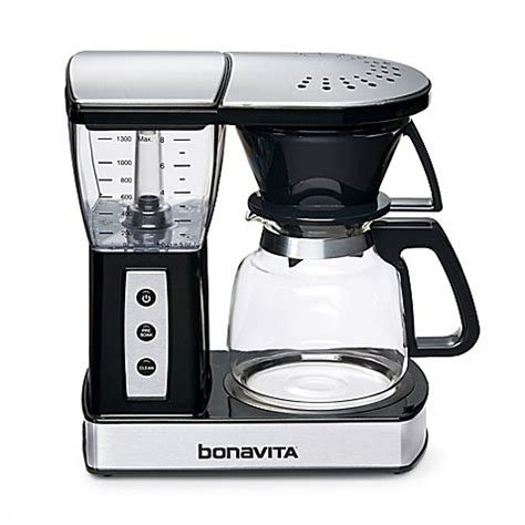 bed bath and beyond coffee makers bonavita bv01002us 8 cup glass carafe coffee brewer in