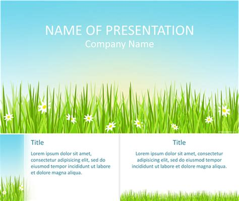 spring powerpoint template templateswise com