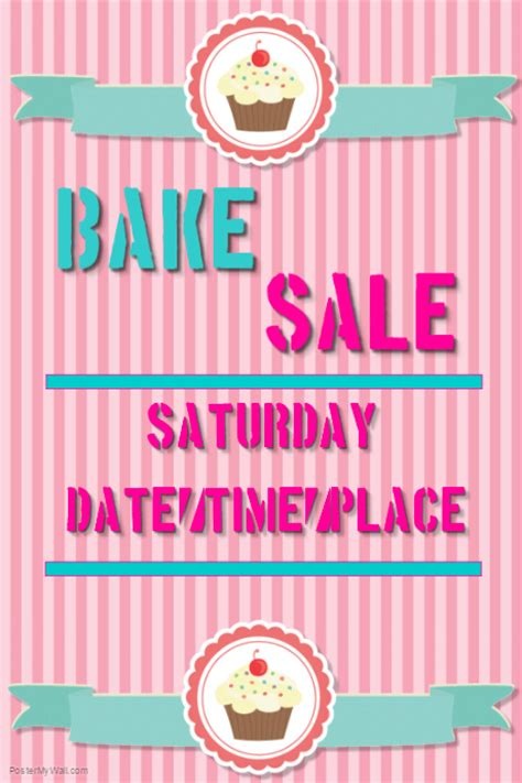 bake sale template bake sale template postermywall