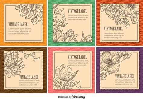 floral vintage labels   vectors clipart
