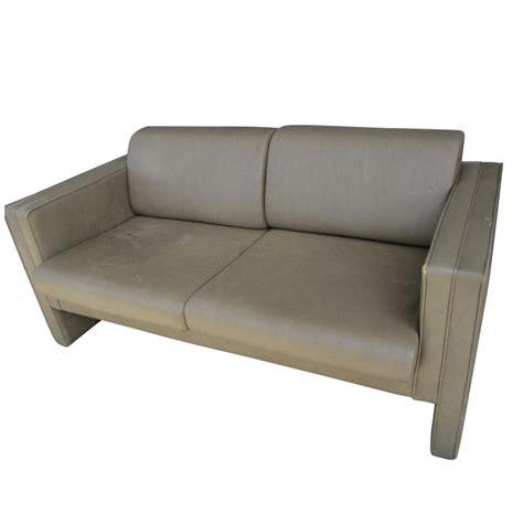 contemporary leather settees 1960s vintage mid century modern brayton leather settee