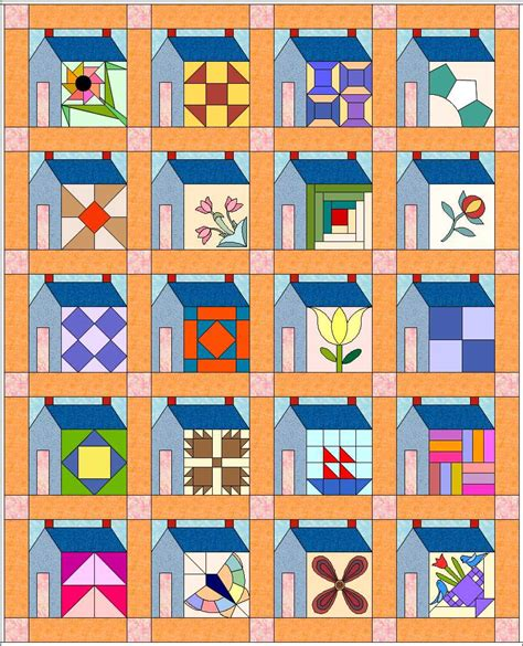 House Quilt Block by 1000 Images About Quilt Houses On