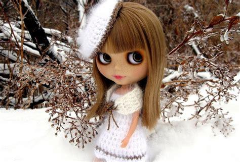 wallpaper 3d doll wallpaper freckles doll snow winter big eyes desktop