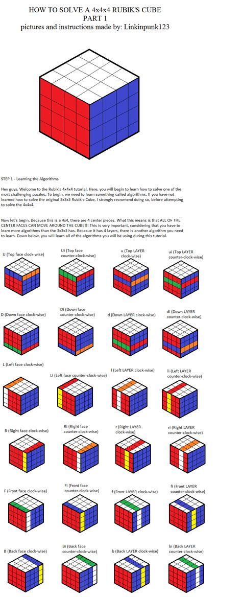 4x4x4 rubik s tutorial 4x4x4 rubik s cube part 1 wip by linkinpunk123 on deviantart