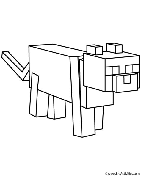 Minecraft Ocelot Coloring Pages 01 Printables Ocelot Coloring Page