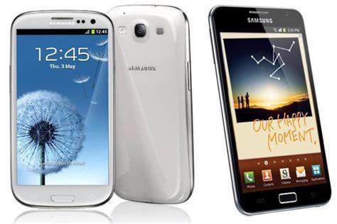 Samsung S3 Note Samsung Galaxy S3 Vs Galaxy Note