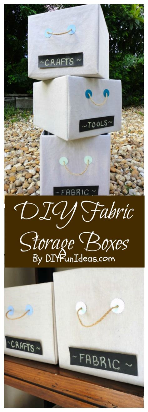 diy storage boxes get organized with diy fabric covered storage boxes do it yourself fun ideas