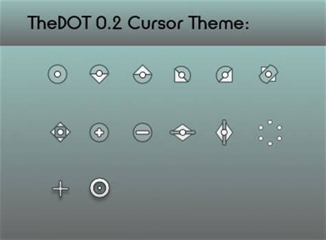 gnome mouse themes thedot www gnome look org