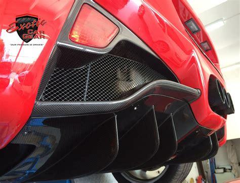 ferrari  italia carbon fiber rear diffuser fins exotic car gear