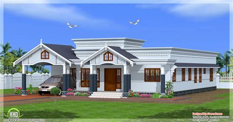 single floor home plans 4 bedroom single floor kerala house plan kerala house design idea