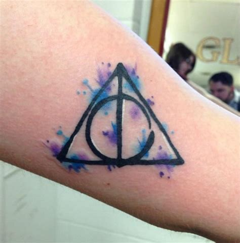 deathly hollows tattoo 25 harry potter images pictures and design ideas