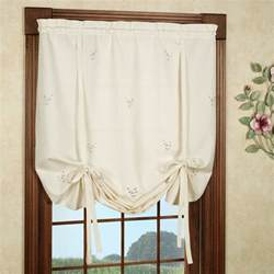 Tie Up Window Curtains Forget Me Not Tie Up Shade