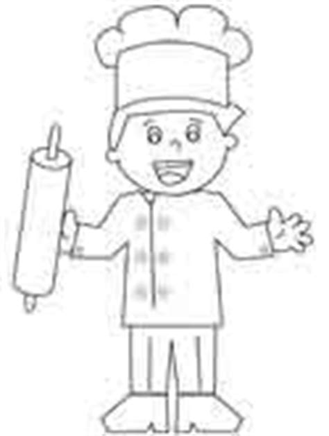 baker coloring pages preschool chef coloring pages