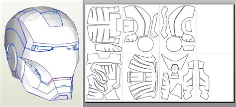 ironman helmet template printable iron helmet template images