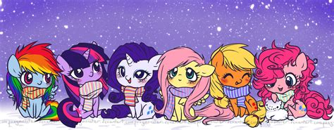 Winter 5 Magic Ponies by The Gift Project Derpy News My Pony