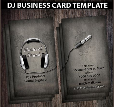 dj business card template psd free 25 dj business card templates free psd ai eps format