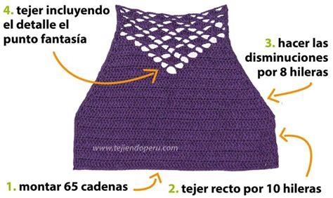 rajut halter top crochet paso a paso top con detalle en punto fantas 237 a