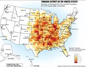 us tornado alley maps show the tornado risk regions in the