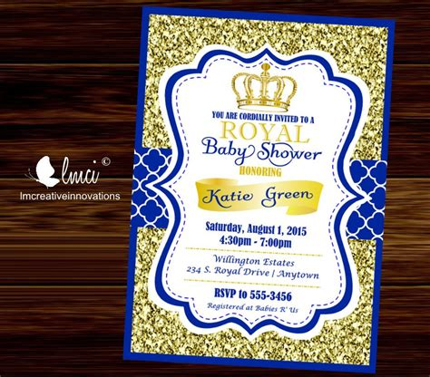 Prince Baby Shower Invitations by Royal Baby Shower Invitation Prince Baby Showerblue