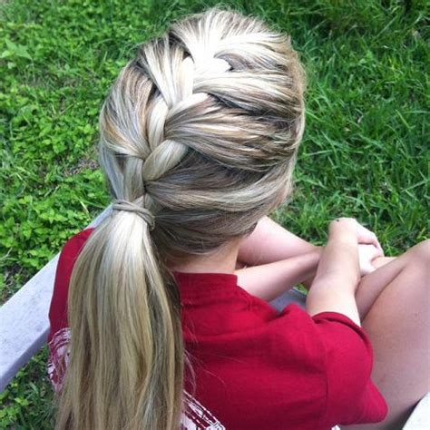 hairstyles girl soccer players french braided pony hairstyles how to