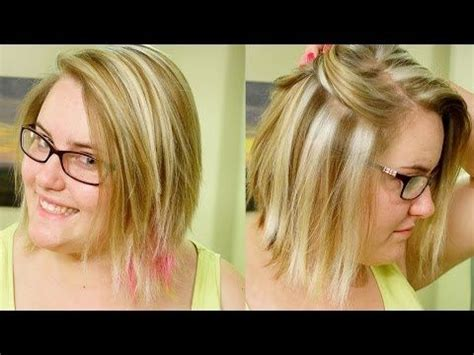 blonde hairstyles tutorial how to slice highlights chunky blond weave tutorial