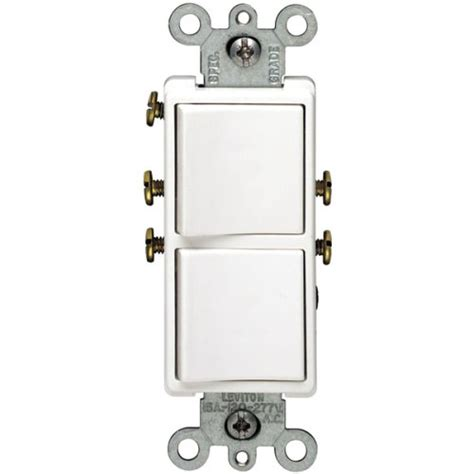 leviton r62 05634 00w 15 white decora dual switch
