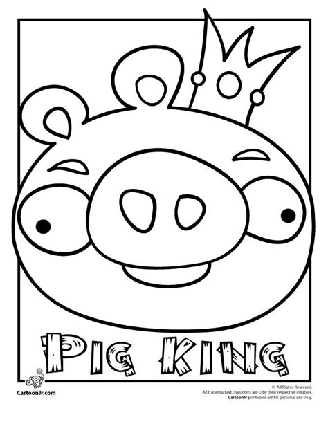 king pig printable bad piggies pinterest