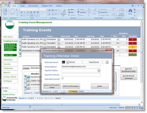Ms Access Free Templates microsoft access templates powerful ms access templates built on ui builder for microsoft access